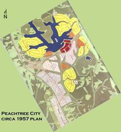 Peachtree City's Plan - circa 1957