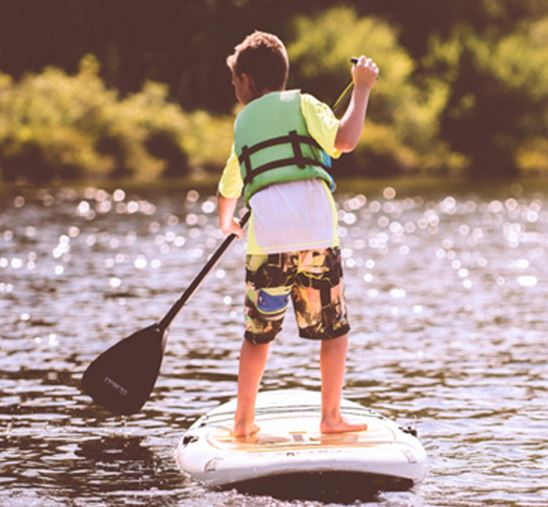 Child on a paddle board