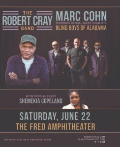 Concert Poster for Cray, Cohn, Blind Boys, and Copeland