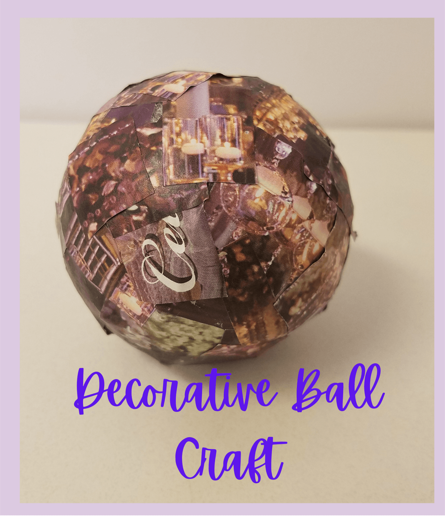 decorative ball craft