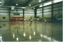 Volleyball practice at Kedron Fieldhouse